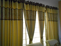 Beautiful Yellow color curtain with attractive look