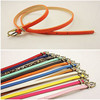 good quality of thin fashion belt with Pu leather