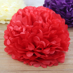 Christmas decoration colorful tissue paper flower wholesale