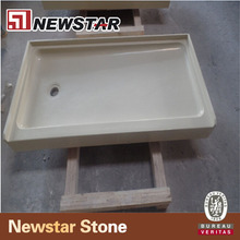 Newstar Artificial White Stone Bathroom Cultured Marble Resin shower surround tubs