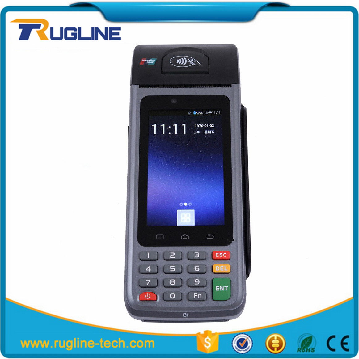 Mobile printer payment terminal android handheld pda with built-in printer