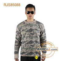 Camouflage Akwing Classic Military Army Sweater Wool/Acrylic Pullover RJS85088