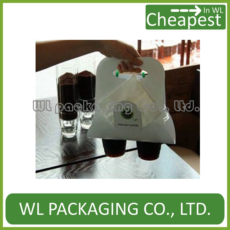 hot-selling customised disposable paper coffee cup holder/paper hot drinking cup carrier