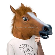 Fantastic Whimsey Costume Party Decoration Latex Horse Head Mark