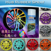 Sino Removable Colored Hub Rubber Car Wheel Acrylic Type Spray 400ML/Bottle