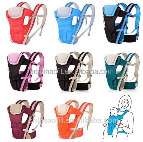 2017 China high quality baby kids 3 ways carrier, polyester colorful baby carrier backpack for 4-24 month baby