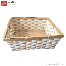 Environmentally Multifunction Square Bamboo Hand Woven Fruit Basket