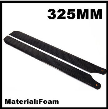 Newest RCF01-325 325mm Form Carbon fiber main blades for 450 RC helicopter