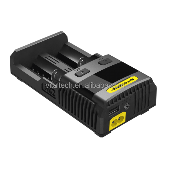 2016 New Arrival Nitecore SC2 Universal rechargeable 3.7V Li-ion Battery charger, 18650 battery charger