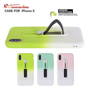 New Arrival High Quality Hidden Kickstand TPU Case For iPhone X
