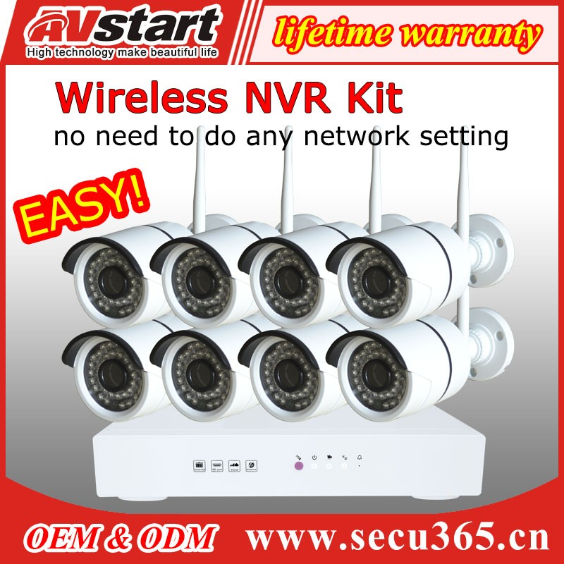 1.3MP 8 Channel NVR Security Surveillance Kit
