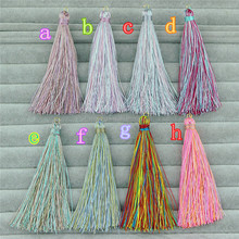 CH-ZSP0008 multiple colors tassel jewelry fashion,wholesale silk tassel pendant charm for necklace,handwork cord tassel hot sale