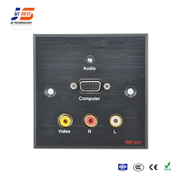 JS-WP101 RCA+VGA+3.5mm Audio Aluminum Wall panel Socket