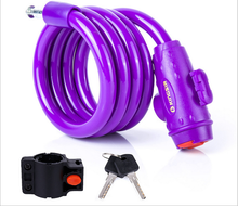 Hot sale bike cable lock bicycle safety lock colorful bike lock