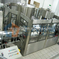 carbonated beverage washing, filling, capping 3 in 1 machine