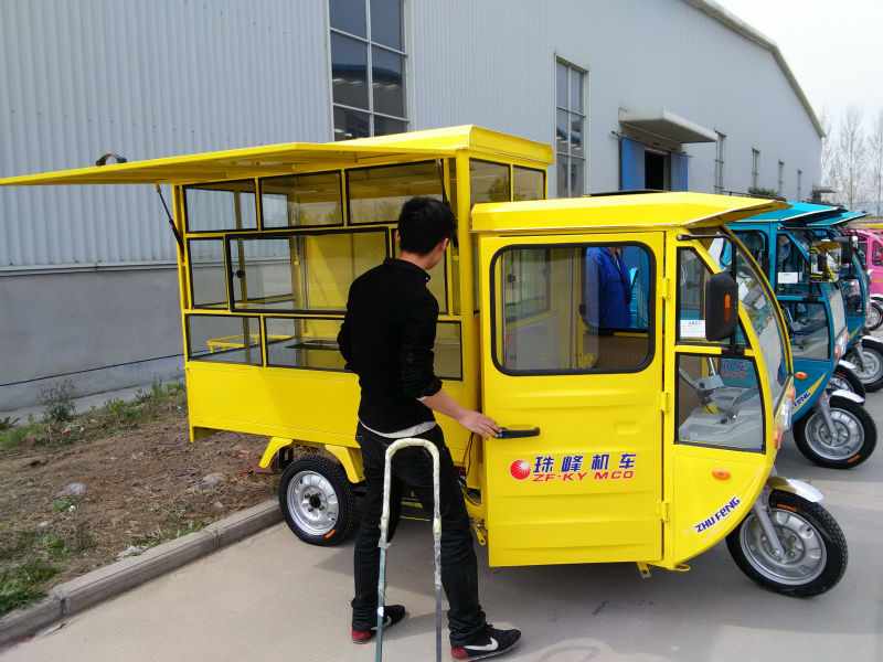 solar battery power rickshaw for ice cream
