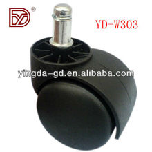 Black nylon 2 inch table leg bolt casters from furniture caster wheel factory