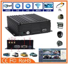 AHD 4 Channels High Definition 720P 4G 3G realtime WIFI GPS vehicle truck bus car DVR hd mobil dvr