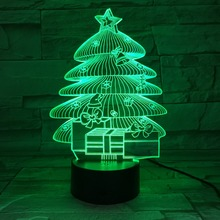 3D Christmas Tree LED Desk Table Light Lamp 3D Night light for Kids