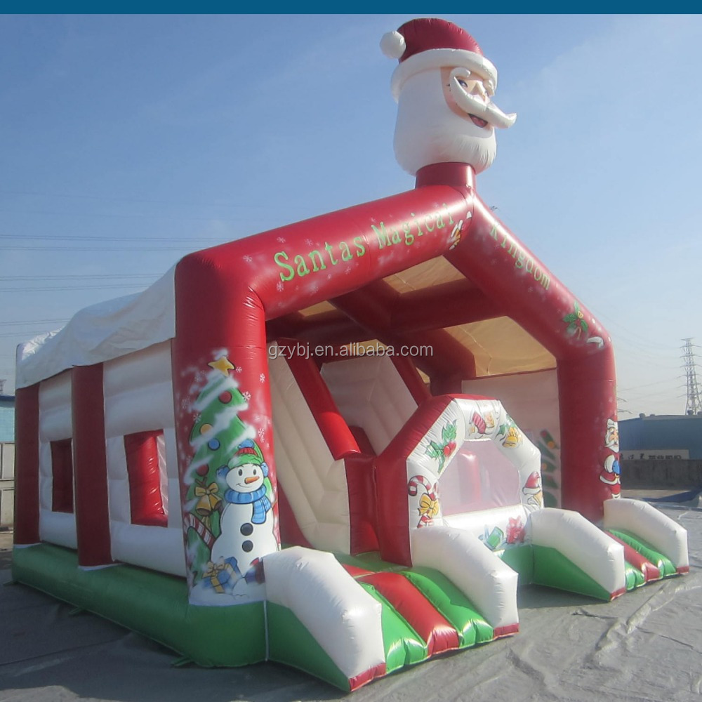 Christmas inflatables,good quality china best factory inflatables bouncer with slide,good design