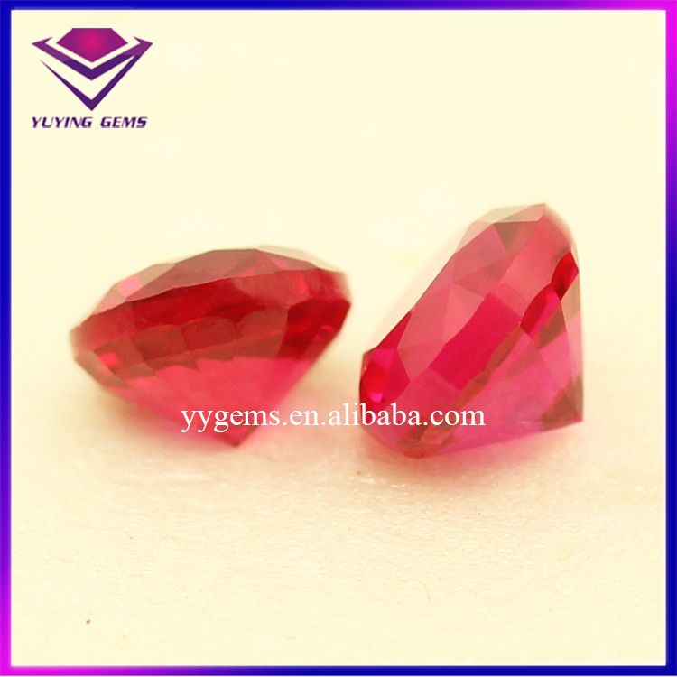 Synthetic Semi Precious Stone Gems Thick Heavy Girdle Ruby Corundum Round Price