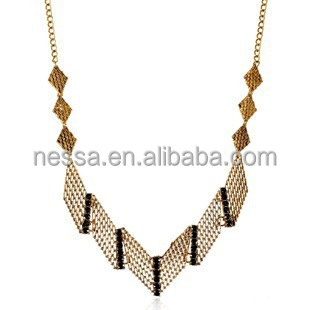 High quality fashion necklace 24k gold plated jewellery NSNK-25780