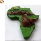 South Africa country map polyresin craft wild animal fridge magnet