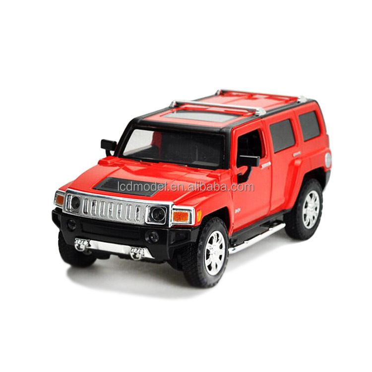 1:43 red jeep car models