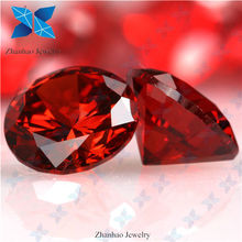Cubic zirconia rough orange red topaz 2mm cz stone