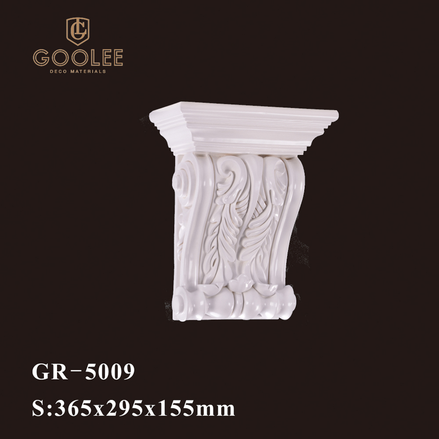 Goolee Luxury Popular Reinforced PU Hand Carved Decorative Corbel