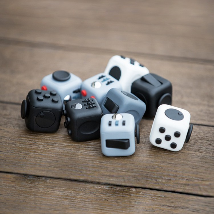 very Fast shipping colorful fidget cube anti stress cube