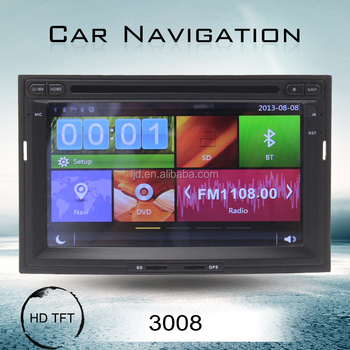 For Peugeot 3008 wince 7 inch 2 din car dvd player