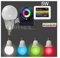 2.4G WIFI control 5W E14 450lm RGBW full color E14 led bulb light