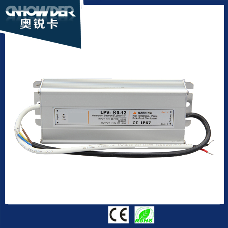 Meanwell 100w waterproof led driver ip67 Level waterproof power supply 230v 220v ac 12v 15v 24v 28v dc