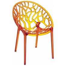 Crystal Polycarbonate Modern plastic Dining Chair