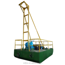 Mini shoreside sand mining discharge dredger vessel