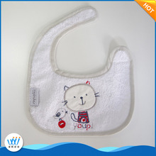 Hot selling fashion embroidery baby bibs plain white for boys and girls