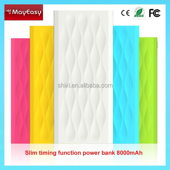 8000mAh External Battery rectangle power bank for iPhone 6/6Plus/5S iPad Air/mini Samsung S5/S4 Note2 HTC One