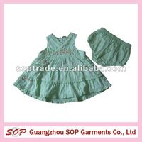 2 pieces toddlers dress sleeve pleated baby girl dress summer fancy dress for girl