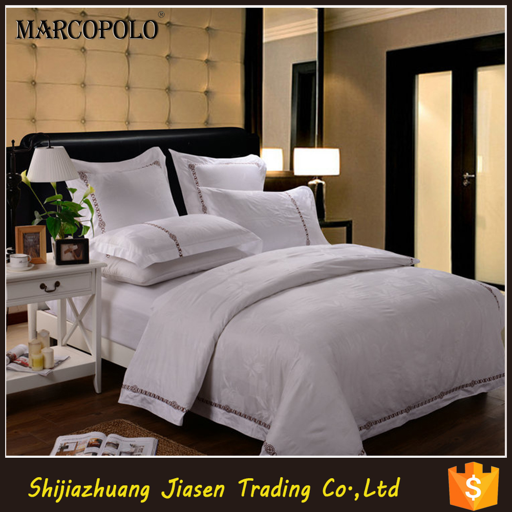 Luxury Egyptian cotton white Strips 3cm Group used Super King size Dubai 5 star hotel bed sheet sets and hotel bed linen