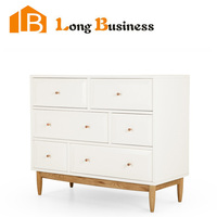 LB-AL5028 MDF White Wooden Chest of Drawers Design Drawer Chest
