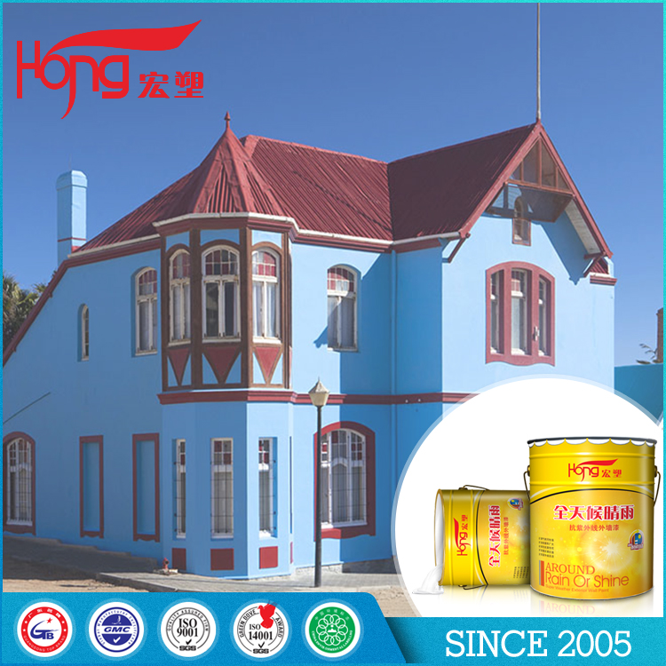 Easy to apply high coving power Silicone-Acrylic latex coating outer wall paint