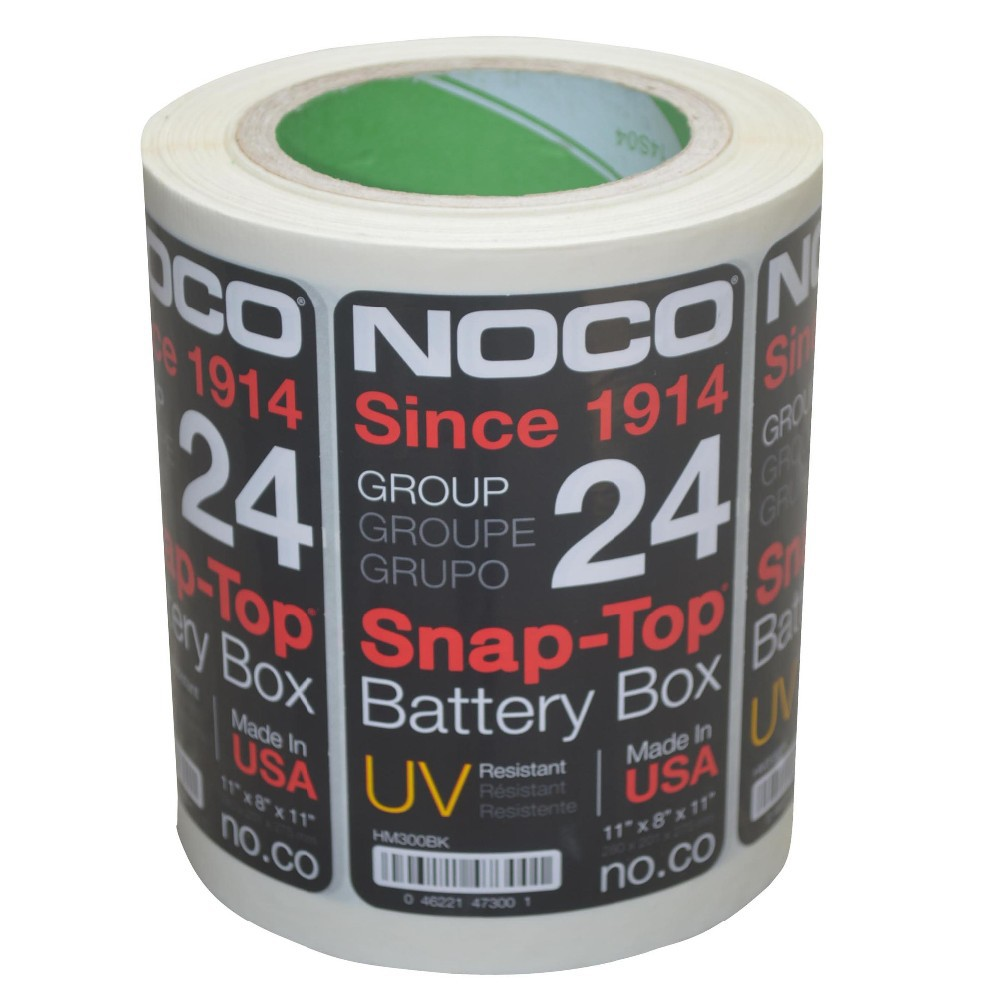 heat resistant permanent battery sticker label