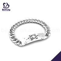 Cheap stainless steel cross plate dollar store bracelets
