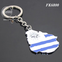 Flag Souvenirs Map Shaped Custom Enamel Metal Map Key Chain