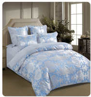 premium 100% polyester sateen jacquard bedding set wedding quilt cover set