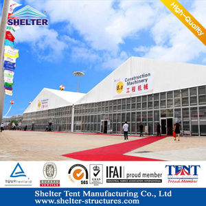 40m Changzhou L-series huge outdoor marquee tent for events exihibition/trade fair tent supplied for Canton fair tents