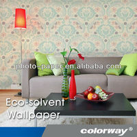 Eco-solvent Printing Silver Embossed Wallpaper with Personality, High Quality