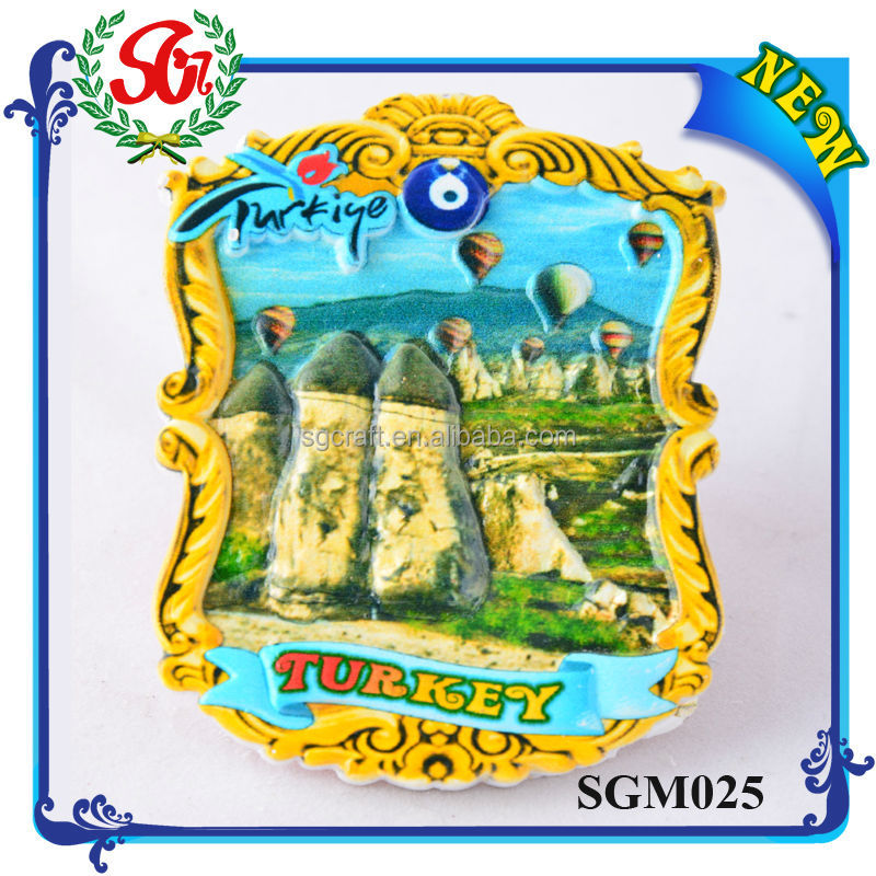 SGM025 Turkey Cities Travel Souvenir Fridge Magnet