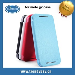 Nillkin hot selling Flip PU Leather Case for Moto G 2nd Generation